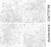 grunge set stripe. vector... | Shutterstock .eps vector #126775748