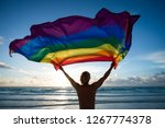 Silhouette Of Man Holding A Gay ...