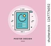 poster  flat design thin line... | Shutterstock .eps vector #1267776052