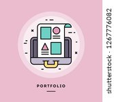 portfolio  flat design thin... | Shutterstock .eps vector #1267776082