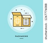 packaging  flat design thin... | Shutterstock .eps vector #1267776088