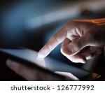 high resolution hand touching... | Shutterstock . vector #126777992