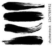 vector set of hand drawn brush... | Shutterstock .eps vector #1267785952