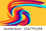 abstract wave on a yellow... | Shutterstock . vector #1267791298