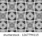ornament with elements of black ... | Shutterstock . vector #1267794115