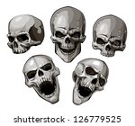set of skulls. vector... | Shutterstock .eps vector #126779525