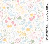 vector daisy flower meadow.... | Shutterstock .eps vector #1267795852
