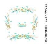 golden floral border ornament ... | Shutterstock .eps vector #1267799218