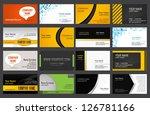 set of business cards | Shutterstock .eps vector #126781166