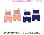 baby girl romper 2d design... | Shutterstock .eps vector #1267813282