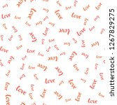 light red vector seamless...   Shutterstock .eps vector #1267829275