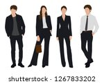 vector of young businessman and ...