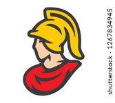 spartan in helmet sign | Shutterstock .eps vector #1267834945