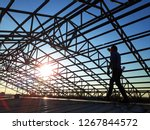 Steel Roof Structure With...