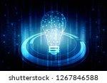 bulb future technology ... | Shutterstock . vector #1267846588