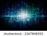 2d digital abstract technology... | Shutterstock . vector #1267848352