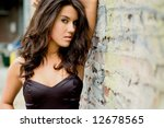 brunette female fashion model... | Shutterstock . vector #12678565