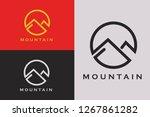 minimalist mountain logo | Shutterstock .eps vector #1267861282