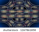 auto road roundabout... | Shutterstock .eps vector #1267861858