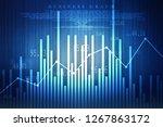 2d rendering stock market... | Shutterstock . vector #1267863172