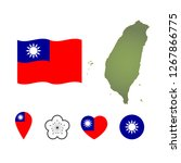 national symbols of taiwan  map ...   Shutterstock .eps vector #1267866775