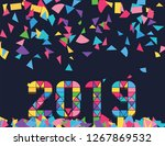 2019 new year illustration... | Shutterstock .eps vector #1267869532