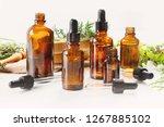 bottles of essential oils....   Shutterstock . vector #1267885102