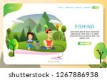 fishing landing page website... | Shutterstock . vector #1267886938