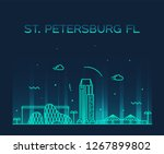 st. petersburg skyline ... | Shutterstock .eps vector #1267899802