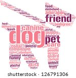 dog and leash symbol tag cloud... | Shutterstock . vector #126791306