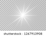 light flare special effect... | Shutterstock .eps vector #1267913908