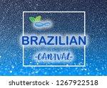 carnival glittering lettering... | Shutterstock . vector #1267922518