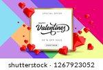 valentines day sale background... | Shutterstock .eps vector #1267923052