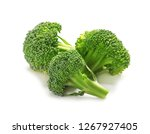 Fresh Broccoli On White...