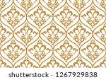floral pattern. vintage... | Shutterstock .eps vector #1267929838