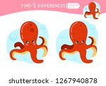 find differences.  educational... | Shutterstock .eps vector #1267940878