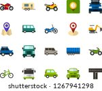 color flat icon set   location... | Shutterstock .eps vector #1267941298