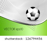 soccer ball background | Shutterstock .eps vector #126794456