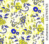 seamless pattern with little... | Shutterstock .eps vector #1267945765