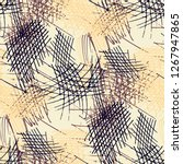 various strokes. seamless... | Shutterstock .eps vector #1267947865