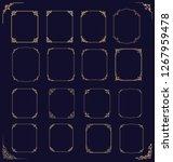 big set of  thin vintage gold... | Shutterstock . vector #1267959478
