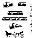 vector public transport... | Shutterstock .eps vector #126796328