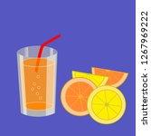 refreshing carbonated lemon and ... | Shutterstock .eps vector #1267969222