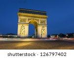 arc de triomphe  charles de... | Shutterstock . vector #126797402