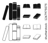 various kinds of books. books... | Shutterstock . vector #1267975075