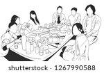 illustration of multi ethnic... | Shutterstock .eps vector #1267990588