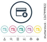 credit card transaction alerts... | Shutterstock .eps vector #1267999822