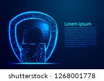 cyber security concept  shield... | Shutterstock .eps vector #1268001778