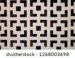 white weatherboarding textured... | Shutterstock . vector #1268003698