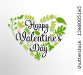 happy valentine's day text with ... | Shutterstock . vector #1268005165